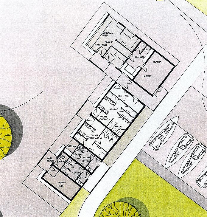 Hafenmeistergebäude Entwurf Variante 4 - Grundriss
