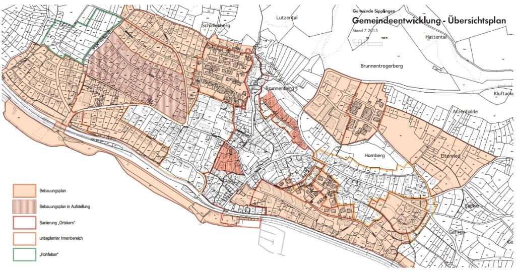 Gemeindeentwicklung - Übersichtsplan 2015