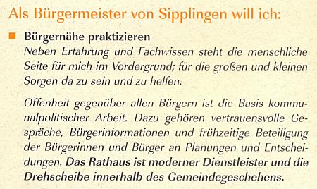Als Bürgermeister von Sipplingen will ich Bürgernähe praktizieren...